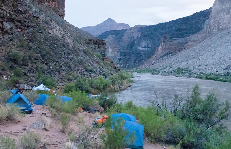 Camp 6 - in the rain