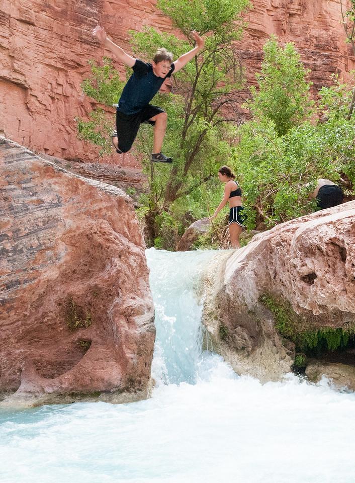 Andy leaps at Havasu Canyon