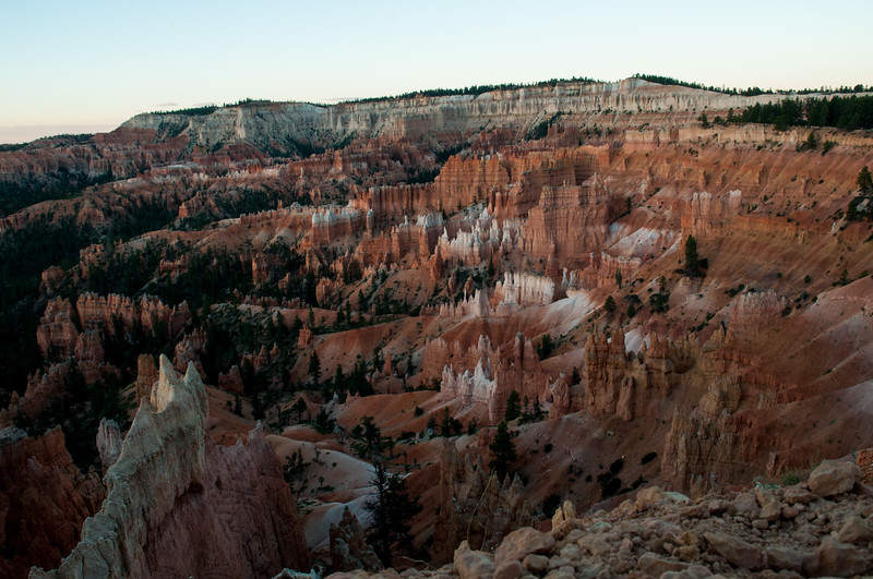 Pre-dawn light at Bryce Canyon Amphitheater