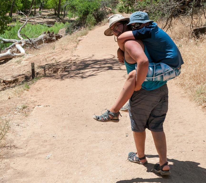 John and Andy finish Angel's Landing hike