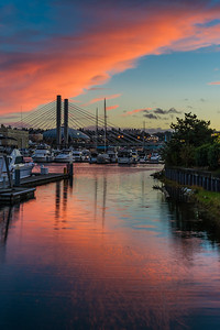 Sunset over the Foss Waterway