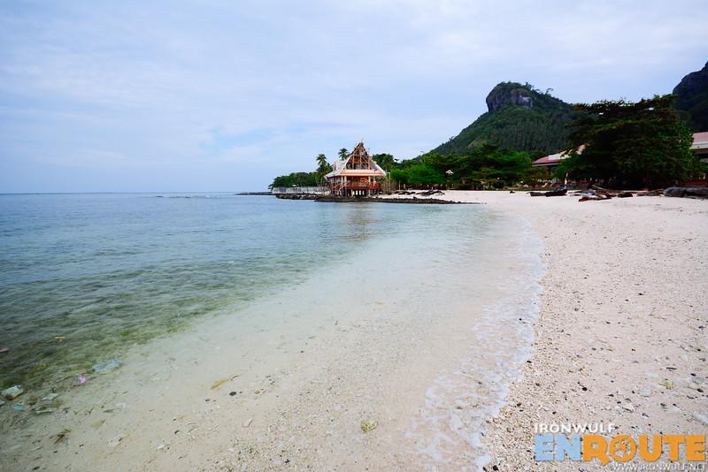 The beach at the Sandbar