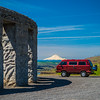 Our Syncro Van at Stonehenge - Maryhill, WA