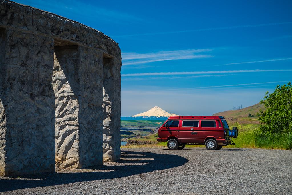 Our Syncro Van at Stonehenge - Maryhill, WA