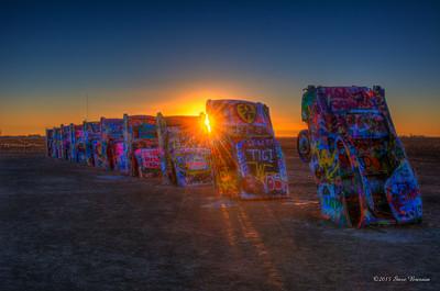 Cadillac Ranch Sunrise