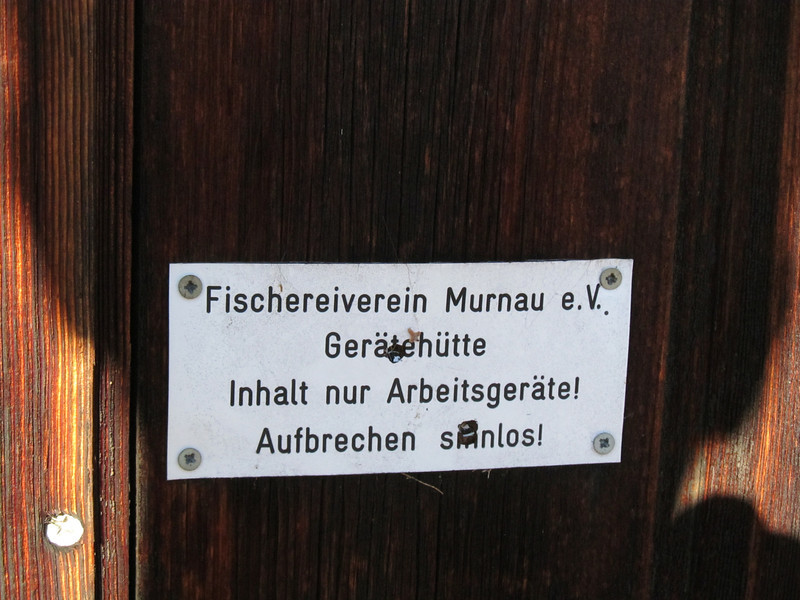 Fishing Club Murnau e.V. Content only implements! Breaking up senseless