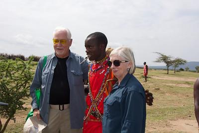 visiting the local Masai