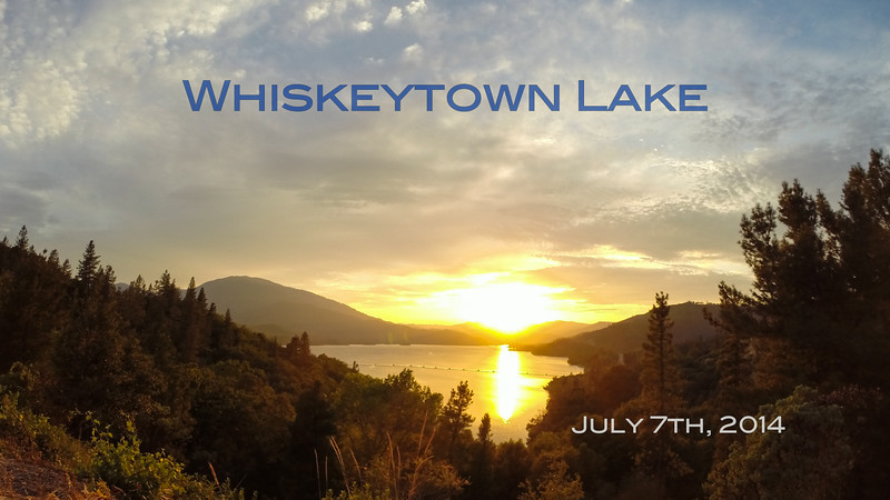 Sunset over Whiskeytown Lake.