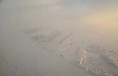 Barrow, on the edge of the frozen Chukchi Sea.