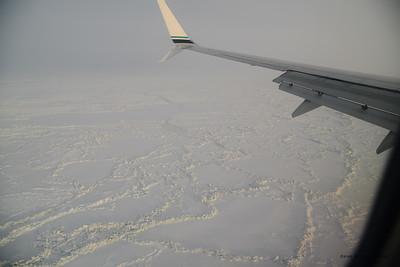 Pressure ridges in the Chukchi Sea ice.