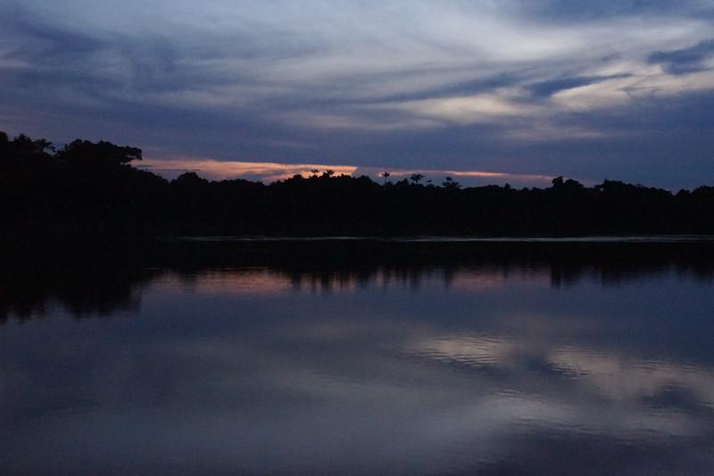 Sunset on the Nanay
