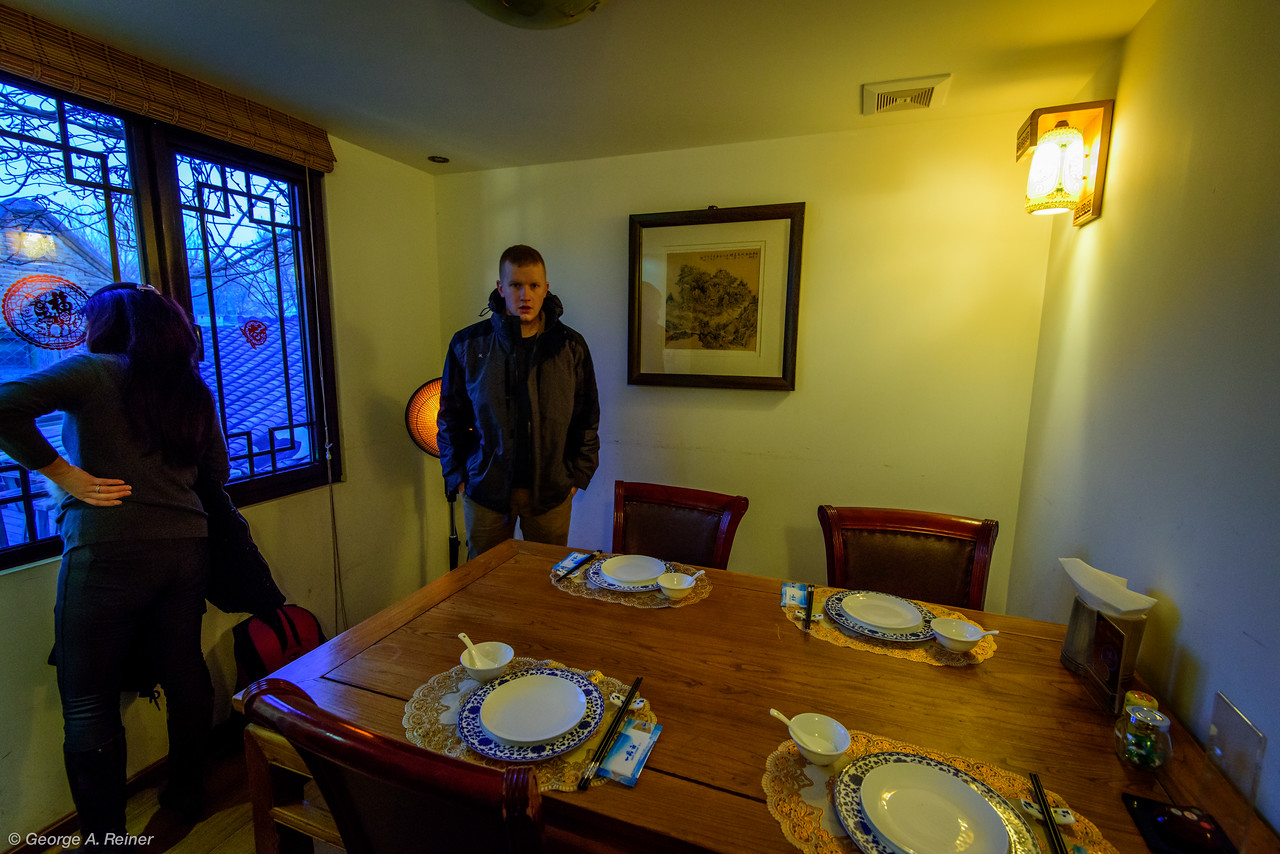 The restaurant was a series of private rooms in an old house surrounding a courtyard.