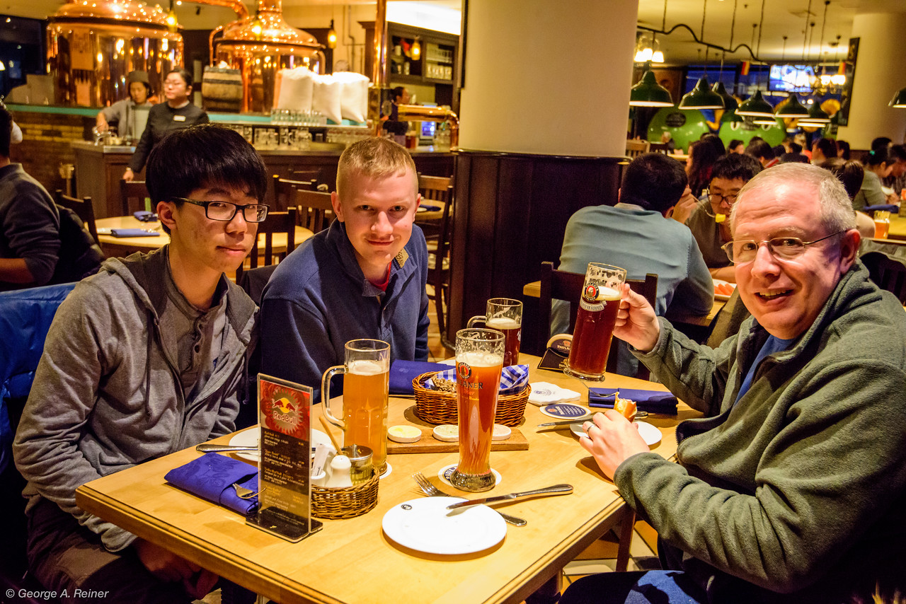 Finally for dinner, we tried some German food at Paulaner brew pub.
