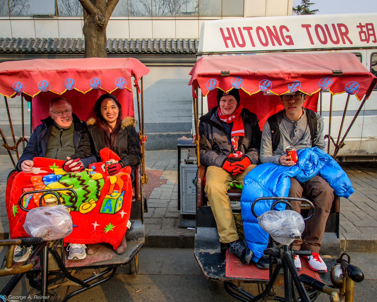 We rode bicycle-driven rickshaws through the last preserved ancient neighborhood.