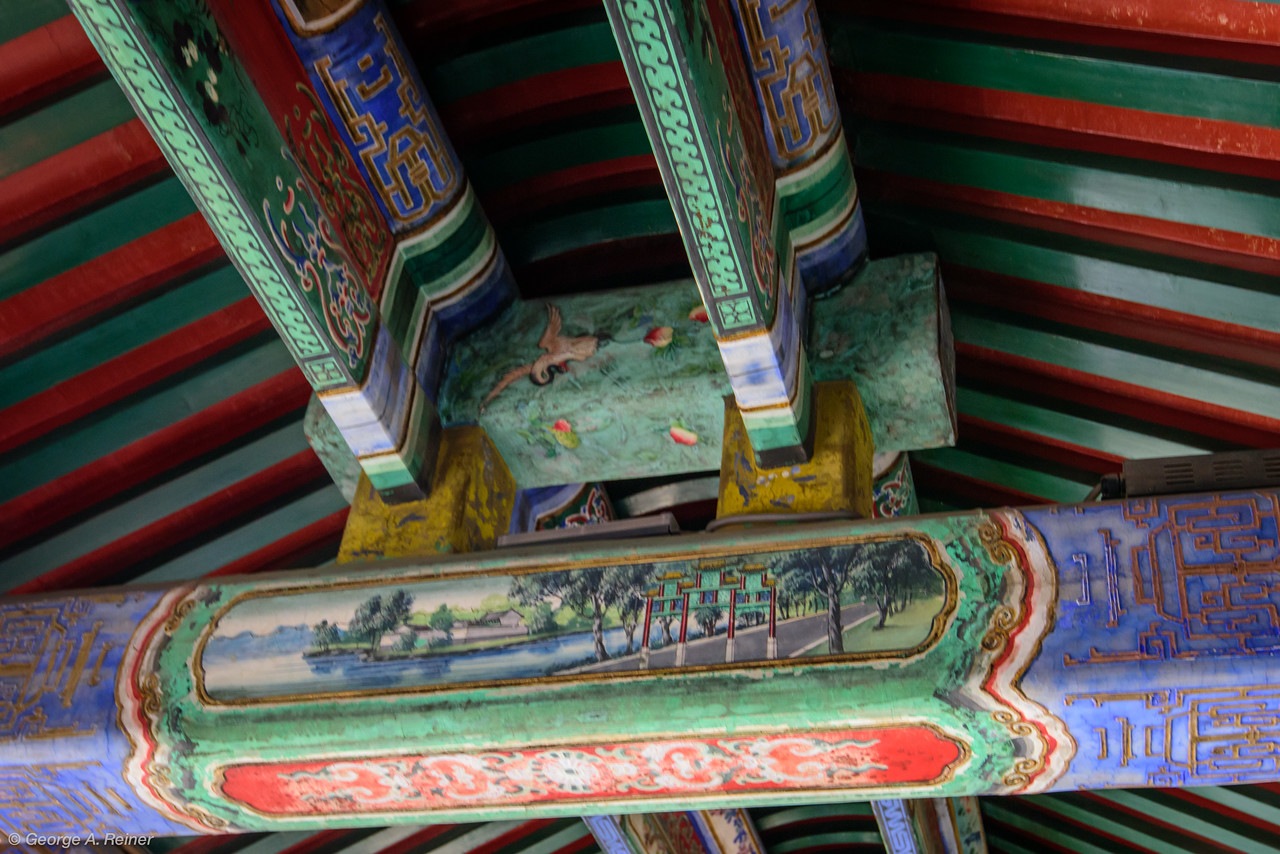 Detail from The Long Walkway.  Each beam held a different painting.