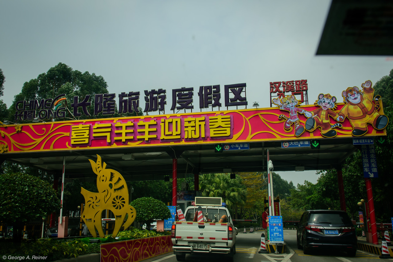 """We then went to the Chiseling Zoo in Guangzhou.  This is a """"drive through"""" safari experience (sort of like the old one at Great Adventure)."""
