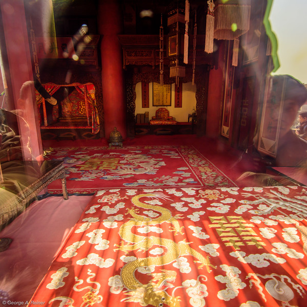 Inside the honeymoon suite (through the plexiglass)...