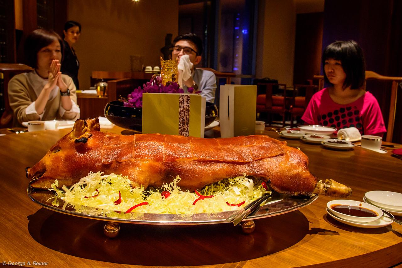 Roast suckling pig...