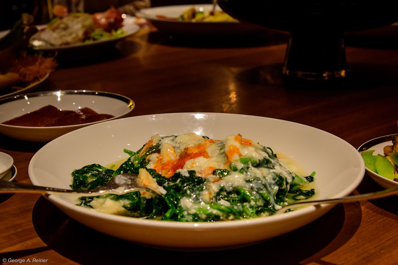 Vegetables with crab meat...