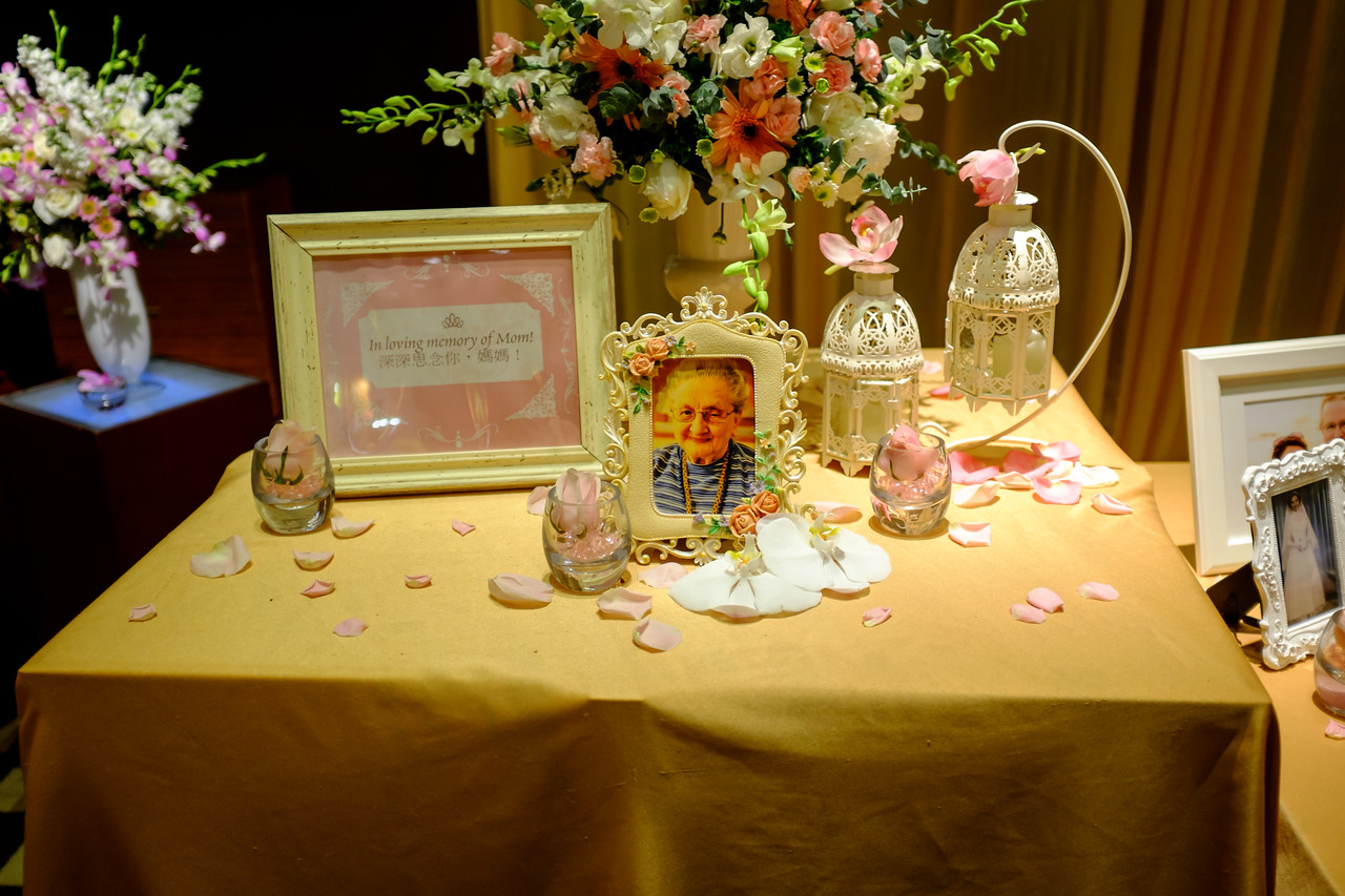 We had a tribute table for Mom.