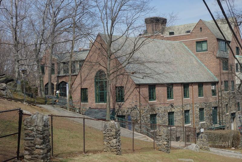 Backside of Bates Student Center