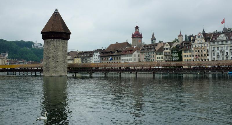 Covered Bridge, Luczern, Switzerland
