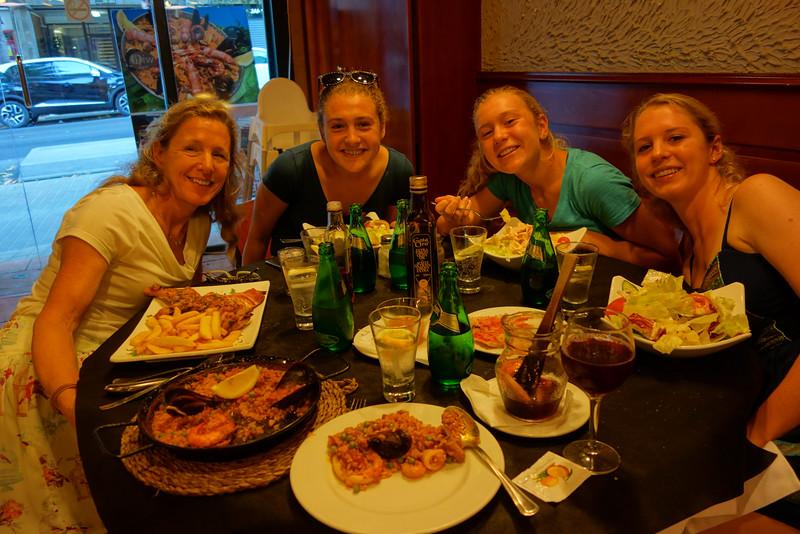 Our last dinner in Spain