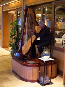 Cafe Portofino harp player