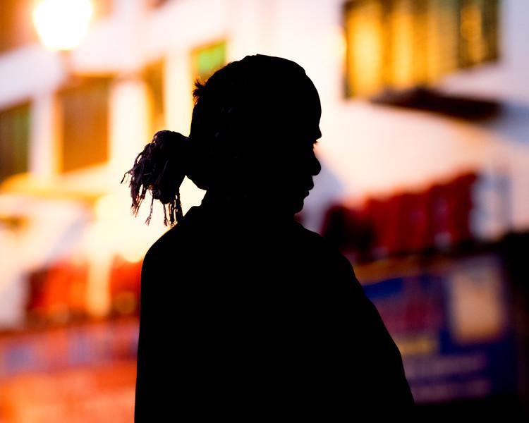Man on street, Delhi, India