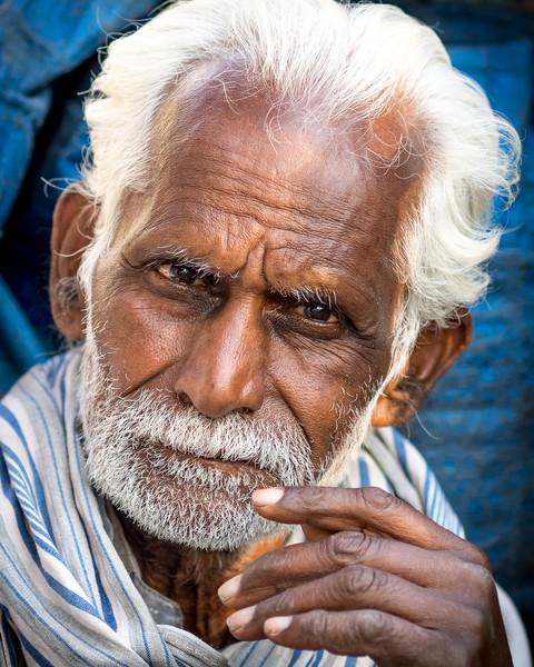 Distinguished man on street, Gandhi Bazaar, Bengaluru, Karnataka, India