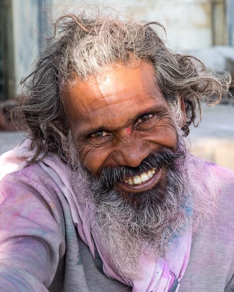 Man on street, Vrindavan, India