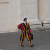 Swiss Guard and his briefcase.