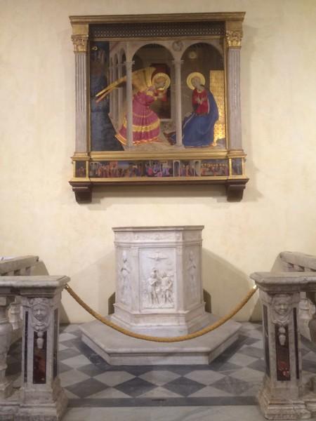 Fra Angelico annunciation in Cortona