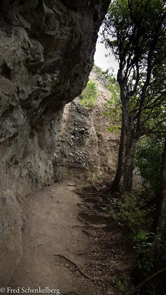Rock face to climb at Duke's Nose