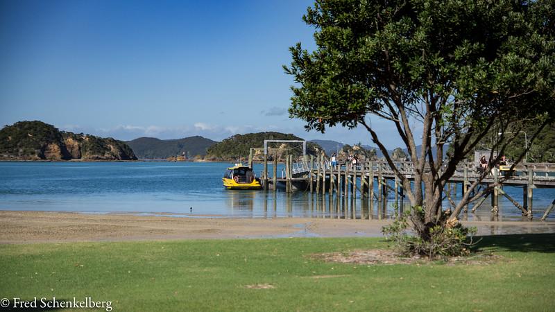 Jetty at Otehei Bay, Urupukapuka Island
