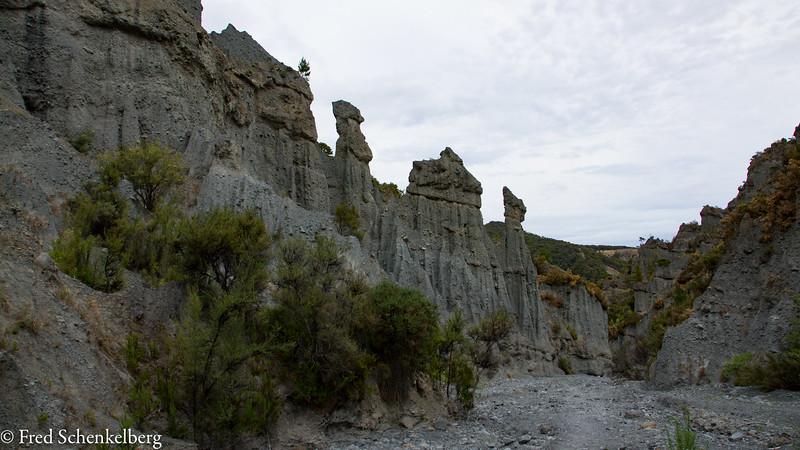 Valley walk at Putangirua Pinnacles