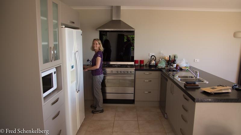 """Kitchen at the """"Malibu House"""""""