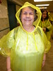 Jeanette in yellow pancho