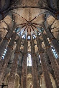 2015 Barcelona - Basilica Santa Maria del Mar - Interior 3