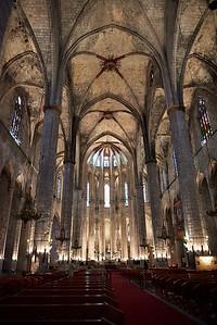 2015 Barcelona - Basilica Santa Maria del Mar - Interior 1