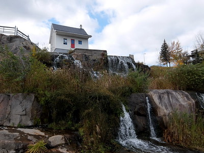 """The only building to survive the 1996 flood. The Saguenay region is a geological """"graben"""", which increased the effect of the sudden massive rains of July 19, 1996. In two days, rainfall accumulated that was """"equivalent to the volume of water that tumbles over Niagara Falls in four weeks."""