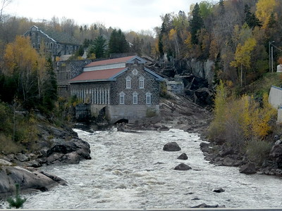Old Chicoutimi Pulp Mill, an early 20th-century industrial complex in operation from 1898 to 1930