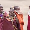 Masai Women wait to greet us