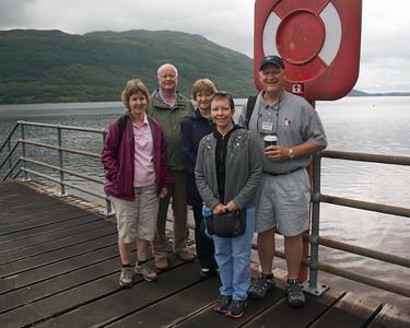 Loch Lomond - North Carolina contingent - Trish, Mike, Linda, Susan, Sterling