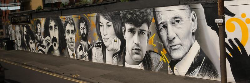 Around Glasgow - Street poster of famous Glaswegians