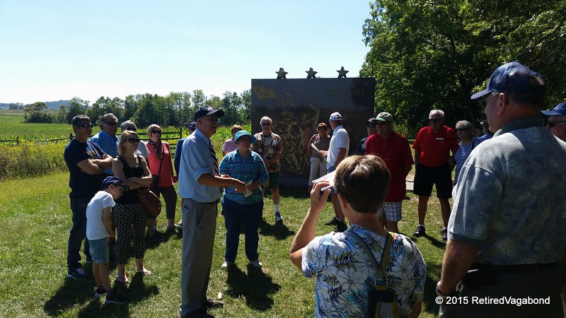 Our Guide at Gettysberg Battlefield