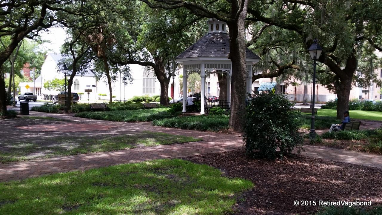 Many parks in Savannah, Georgia