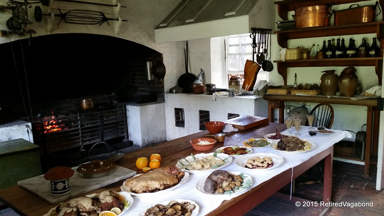 Governors Palace Kitchen Williamsburg 1706