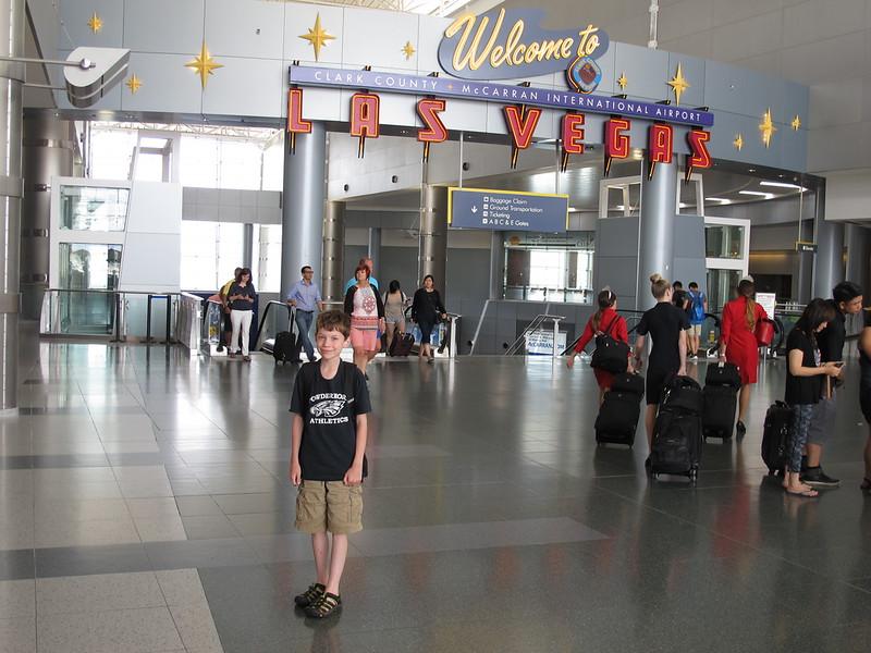 Nolan at Las Vegas airport