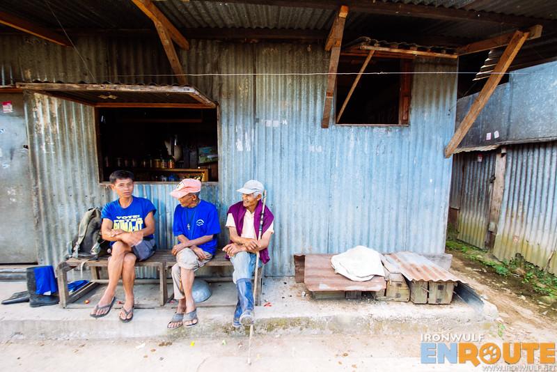 Some of the elders hanging around the village sari-sari store